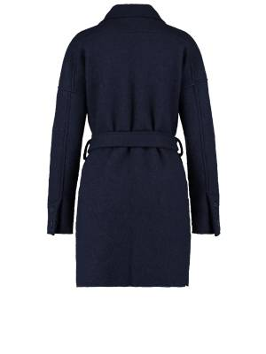 Studio Anneloes 05353 Philly wool coat 6900 dark blue | Pico Women Fashion & More