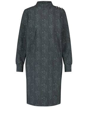 Studio Anneloes 05055 Veerle snake dress 9978 darkgrey/mossgreen | Pico Women Fashion & More