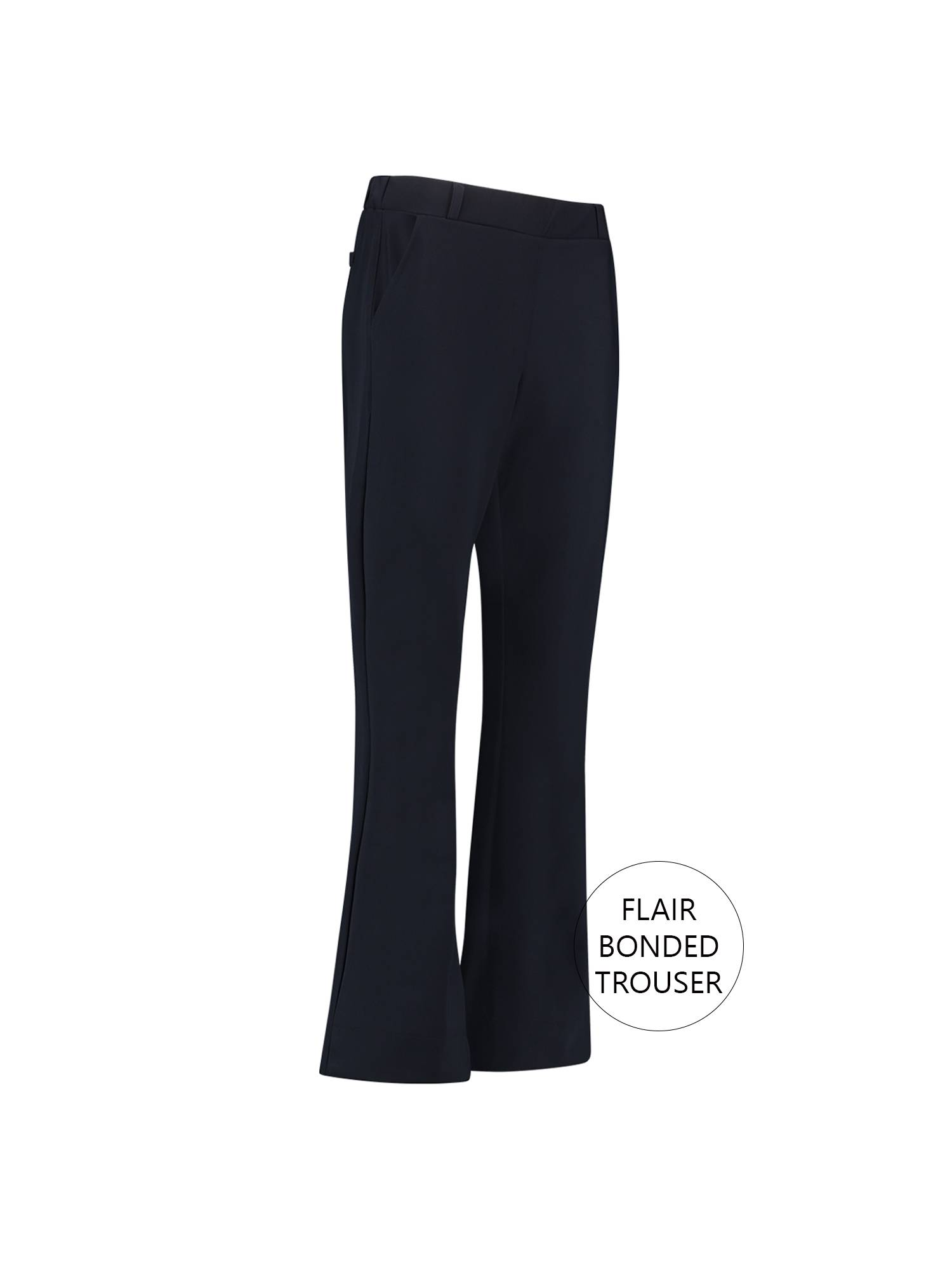 Studio Anneloes 02309 Flair bonded trousers 6900 Dark blue | Pico Women Fashion & More