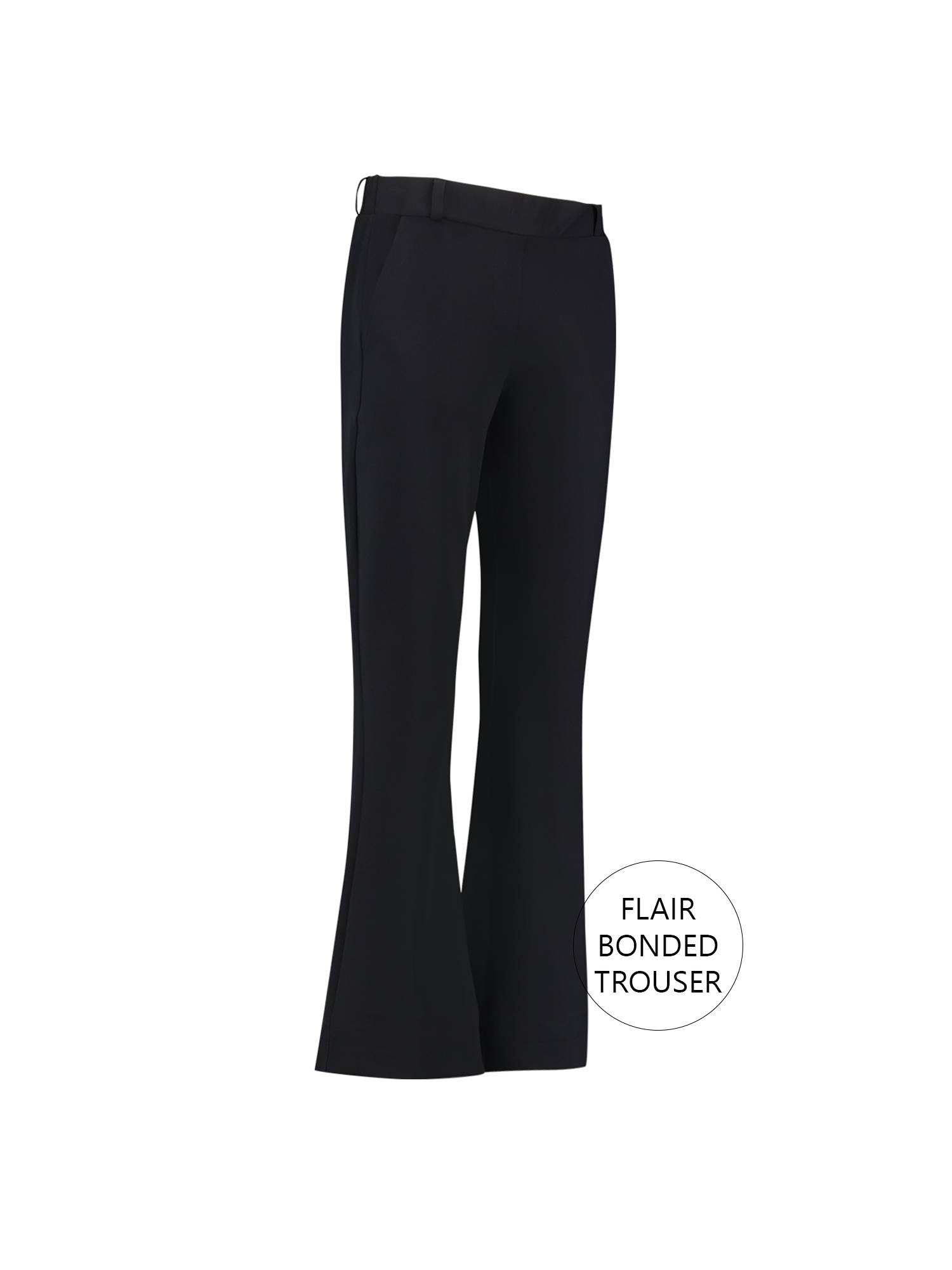 Studio Anneloes Flair Bonded Trouser 9000 Black | Pico Women Fashion & More