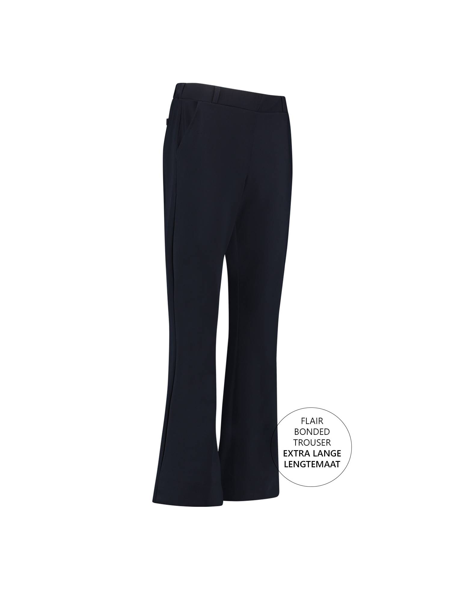 Studio Anneloes Flair LONG bonded trouser 6900 Dark blue | Pico Women Fashion & More