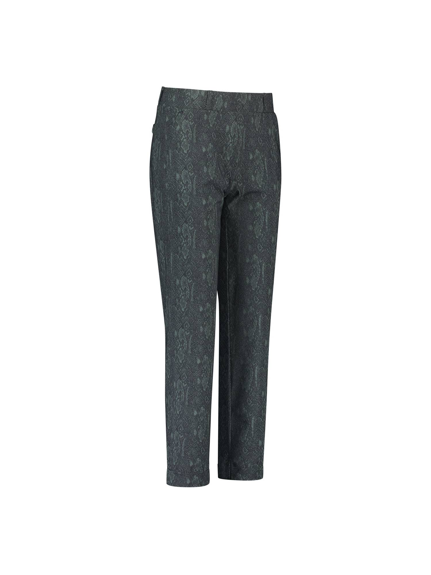 Studio Anneloes 05053 Anne snake trousers 9978 darkgrey/mossgreen | Pico Women Fashion & More