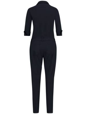 Studio Anneloes Angelique jumpsuit 3/4 with cuff 6900 Dark Blue | Pico Women Fashion & More