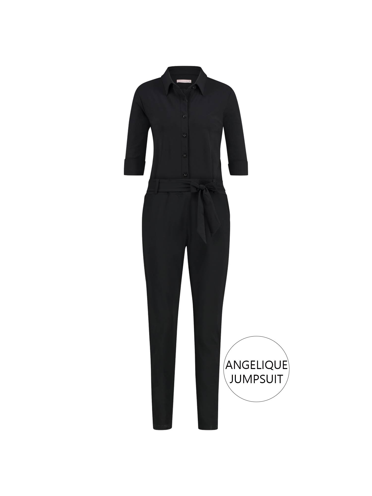 Studio Anneloes Angelique jumpsuit 3/4 with cuff 9000 Black | Pico Women Fashion & More