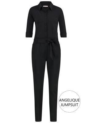 Studio Anneloes Angelique jumpsuit 3/4 with cuff 9000 Black
